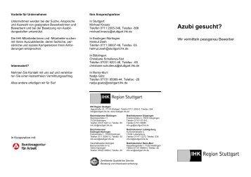 Flyer Azubi gesucht! - first job IHK Ausbildungs-Blog
