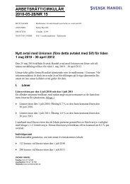 Nytt avtal Unionen fd Sif 1 maj 2010 - 30 april 2012 ... - Svensk Handel