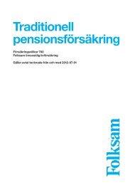 Traditionell pensionsförsäkring - Folksam