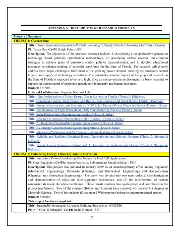 Annual Report- Part III - Florida Energy Systems Consortium