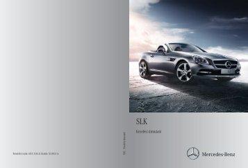 Mercedes-Benz SLK Roadster kezelési útmutató letöltése (PDF)