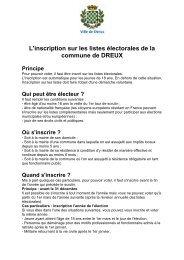 Inscription sur les listes électorales - Dreux.com