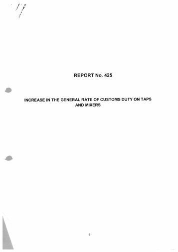 report no. 425 - International Trade Administration Commission Of ...