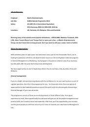 Job posting copy: Employer: Merlin Entertainments Job title: XLR8 ...