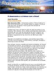 O desencanto e a tristeza com o Brasil