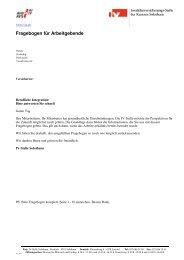 Fragebogen für Arbeitgebende - IV-Stelle des Kantons Solothurn
