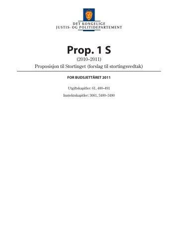 Prop. 1 S (2010–2011) - Statsbudsjettet