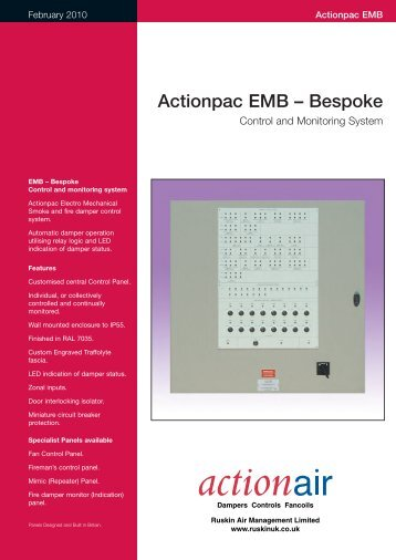 Actionpac EMB – Bespoke Control and Monitoring System - Actionair