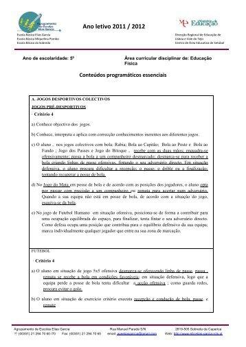 Ano letivo 2011 / 2012 - Agrupamento de Escolas Elias Garcia