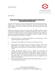 Cover Letter - Actuarial Society of Hong Kong