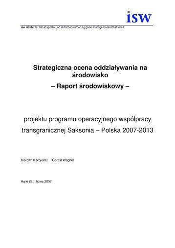 Strategiczna ocena oddziaływania na środowisko – Raport ... - Interreg