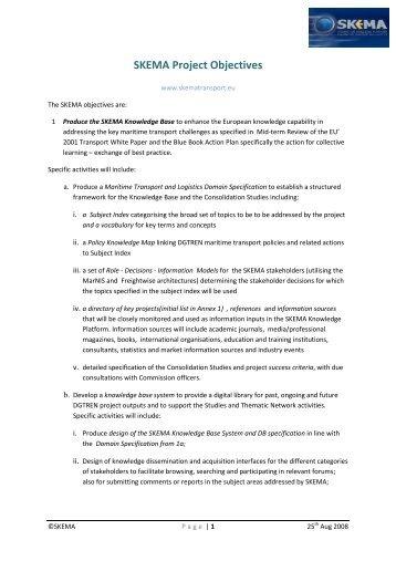 SKEMA Project Objectives - eBOS Technologies Ltd