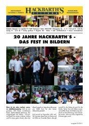 20 jahre hackbarth´s - das fest  in bildern - Hackbarth's Restaurant