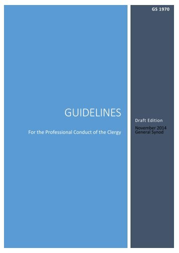 gs 1970 - draft guidelines for the professional conduct of the clergy