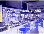 PhysChem Measurements -more than just a ... - PhysChem Forum