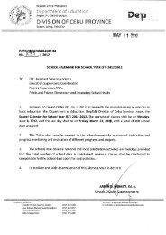 Memo No. 233, S. 2012 - DepEd Cebu Province