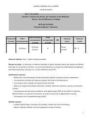 1 technicien batiment / thermicien - Conseil général de la Lozère