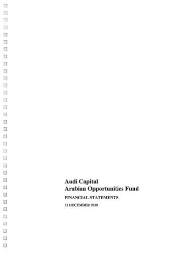 Arabian Opportunities Fund - Audi Capital