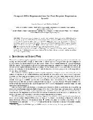 Compact DFA Representation for Fast Regular Expression Search?
