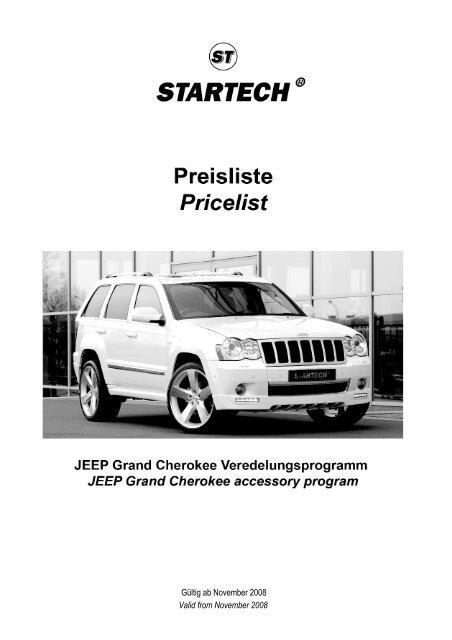 Preisliste JEEP Grand Cherokee
