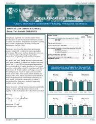 SCHOOL REPORT FOR 2005–2006 - the York Catholic District ...