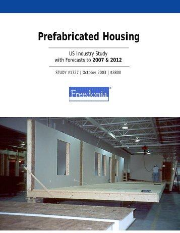 Prefabricated Housing - The Freedonia Group