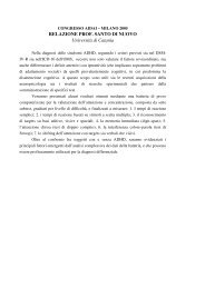 RELAZIONE PROF. SANTO DI NUOVO Università di Catania - Aidai