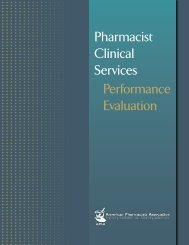 Pharmacist Clinical Services Performance Evaluation - American ...