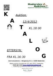 A 12/4/2012 T KL.18:00 A L EFTERSYN - Haderslev Auktion
