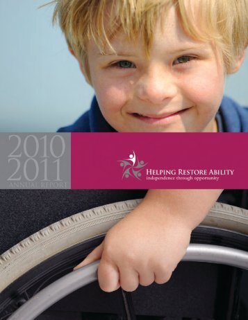 2010-2011 Annual Report - Helping Restore Ability
