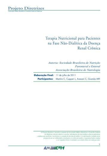 Terapia Nutricional para Pacientes na Fase Não ... - Projeto Diretrizes