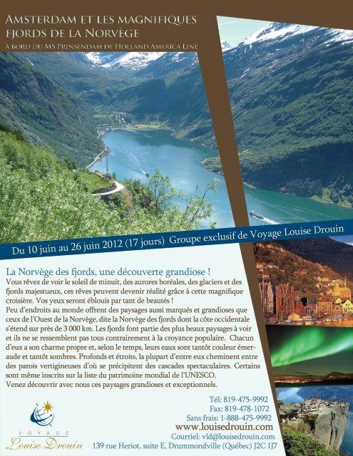 Amsterdam et les magnifiques fjords de la Norvège Amsterdam et ...