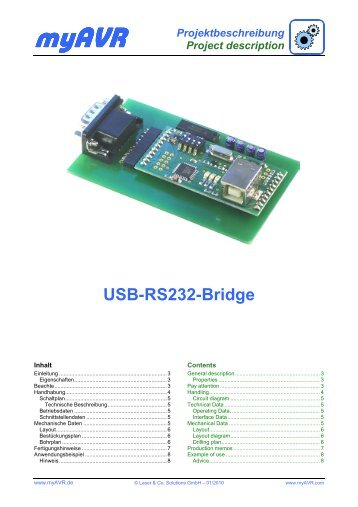 Projektbeschreibung Project description USB-RS232-Bridge - myAVR