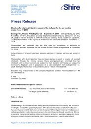 Microsoft Word - IAS Elections- Interim Dividend 01 Sep - Shire
