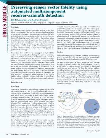 Preserving sensor vector fidelity using automated multicomponent ...