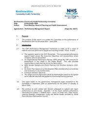 CHP Performance Report - April - June 2008 - NHS Greater ...