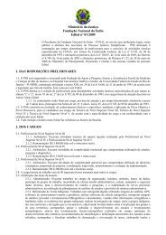 Ministério da Justiça Fundação Nacional do Índio Edital nº ... - Funai