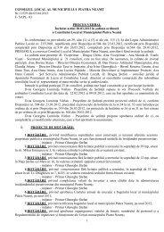 consiliul local al municipiului piatra neamţ - Primaria Piatra-Neamţ