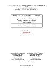 Preliminary - DCC - LIGO Scientific Collaboration