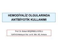 hemodiyaliz olgularında antibiyotik kullanımı