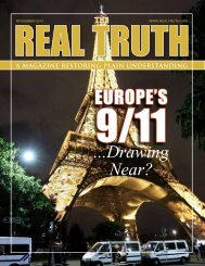 The Real Truth November 2010 - The Real Truth Magazine