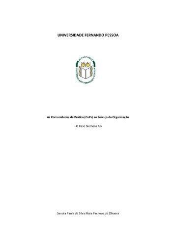 As Comunidades de Prática (CoPs) ao Serviço da Organização