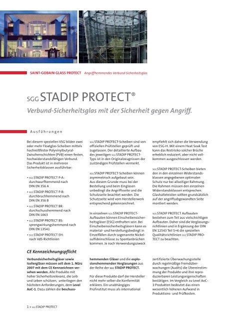 SGG STADIP PROTECT® - Saint-Gobain Glass
