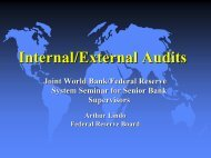 Internal/External Audits - World Bank