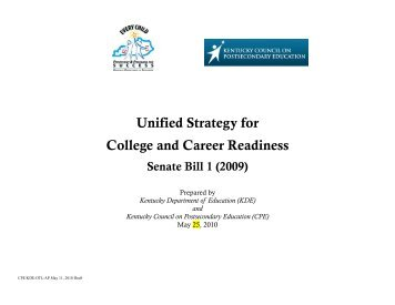 Unified Strategy for College and Career Readiness - Council on ...