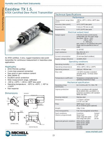 Easidew TX I.S. Datasheet - SRP Control Systems