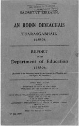 Statistical Report 1935-1936 - Department of Education and Skills