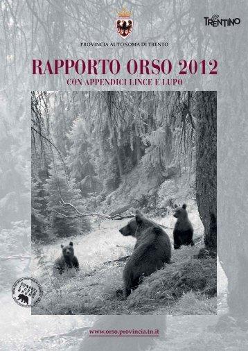 RAPPORTO ORSO 2012 - L'Adige