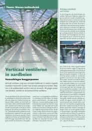 Verticaal ventileren in aardbeien - Proeftuinnieuws.be
