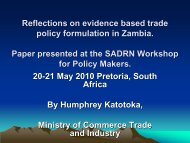 Reflections on evidence based trade policy formulation in ... - tips